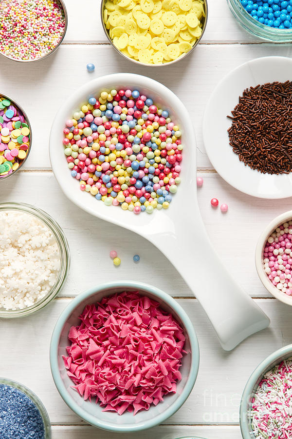 Assortment Photograph - Candy Sprinkles by Ruth Black