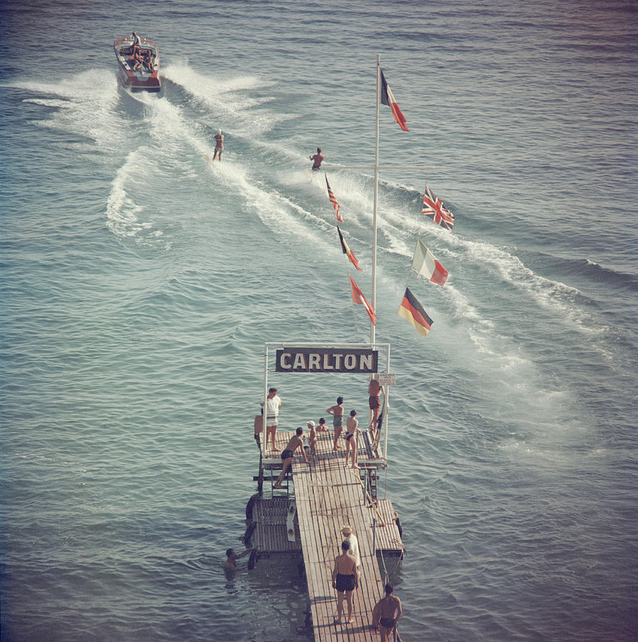 Cannes Watersports Photograph by Slim Aarons