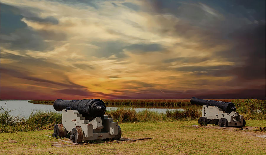 Cannons at Sunset by Darryl Brooks