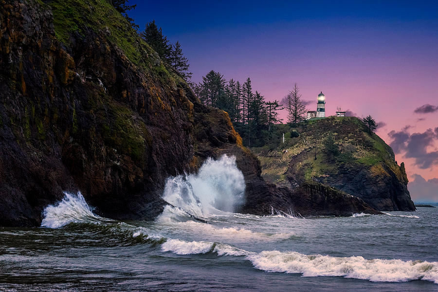 Cape Disappointment Light Photograph by Dave Koch