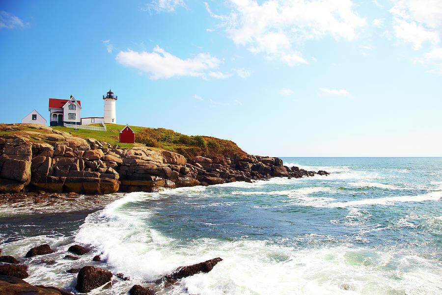 Cape Neddick Nubble Lighthouse Photograph by Thomas Northcut