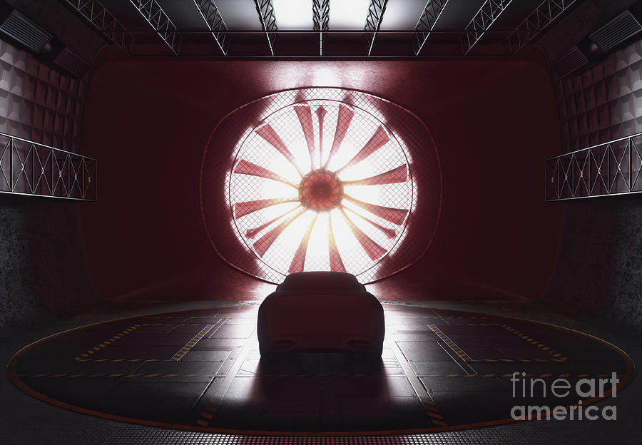 Car Photograph - Car In Wind Tunnel 1 by Ktsdesign/science Photo Library