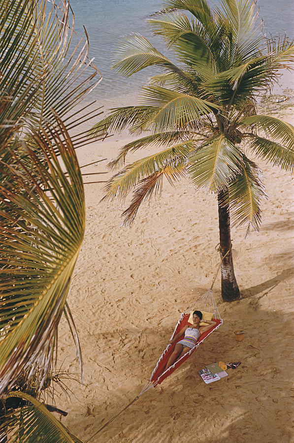 Caribe Hilton Beach Photograph by Slim Aarons