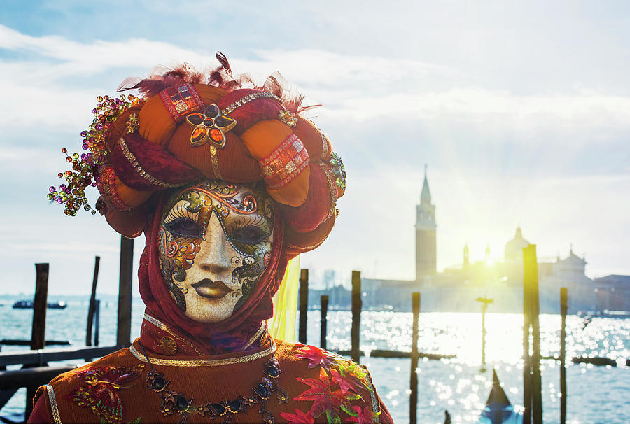 Carnival Mask In Venice Posing In San Photograph by Buena Vista Images