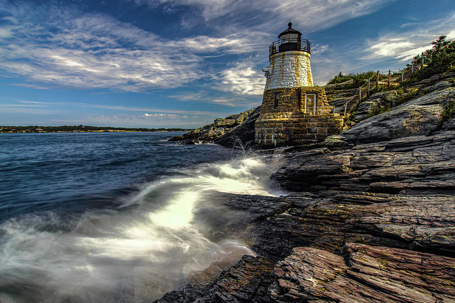 castle hill lighthouse newport rhode island by ALEX GRICHENKO