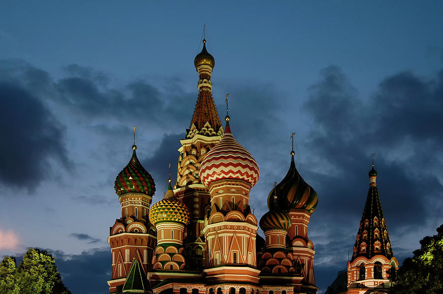 Cathedral Of Saint Basil The Blessed In Photograph by Izzet Keribar