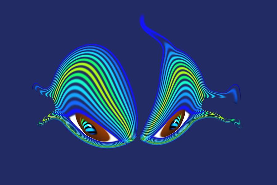 Cat Digital Art - Cats Eyes by Charles Stuart