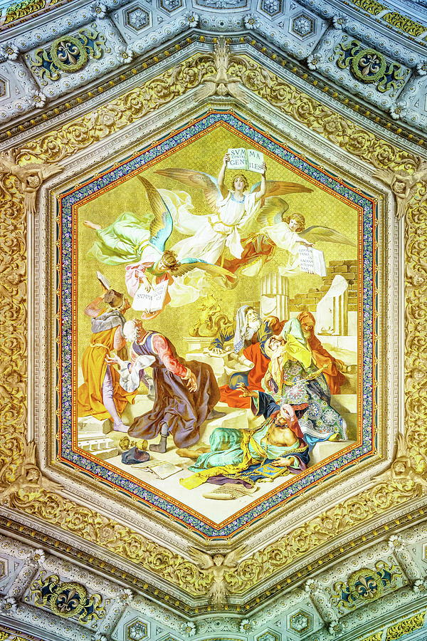 Ceiling Painting In Vatican Museum Photograph