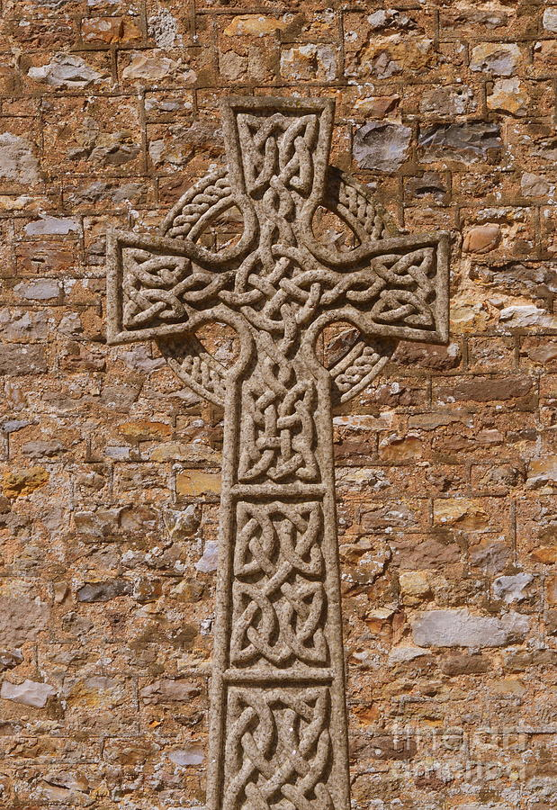 Celtic Cross Photograph - Celtic Cross by Andy Thompson