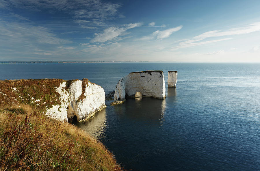 Chalk Cliffs And Sea Stacks Photograph by James Osmond