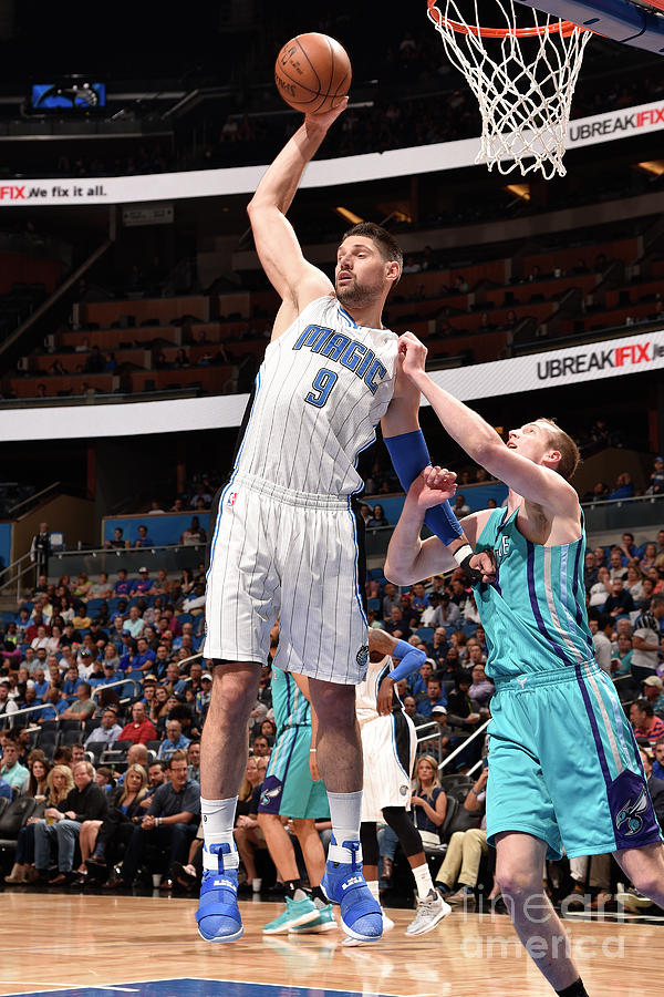 Charlotte Hornets V Orlando Magic Photograph by Gary Bassing