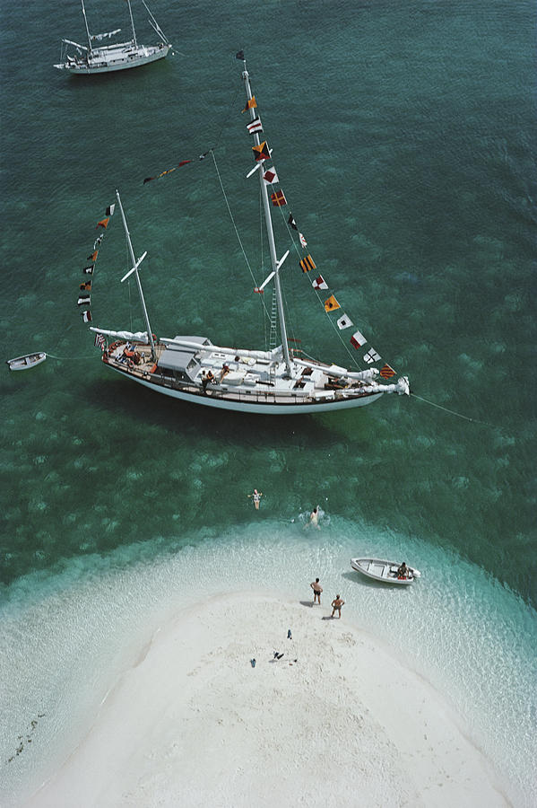 Charter Ketch Photograph by Slim Aarons