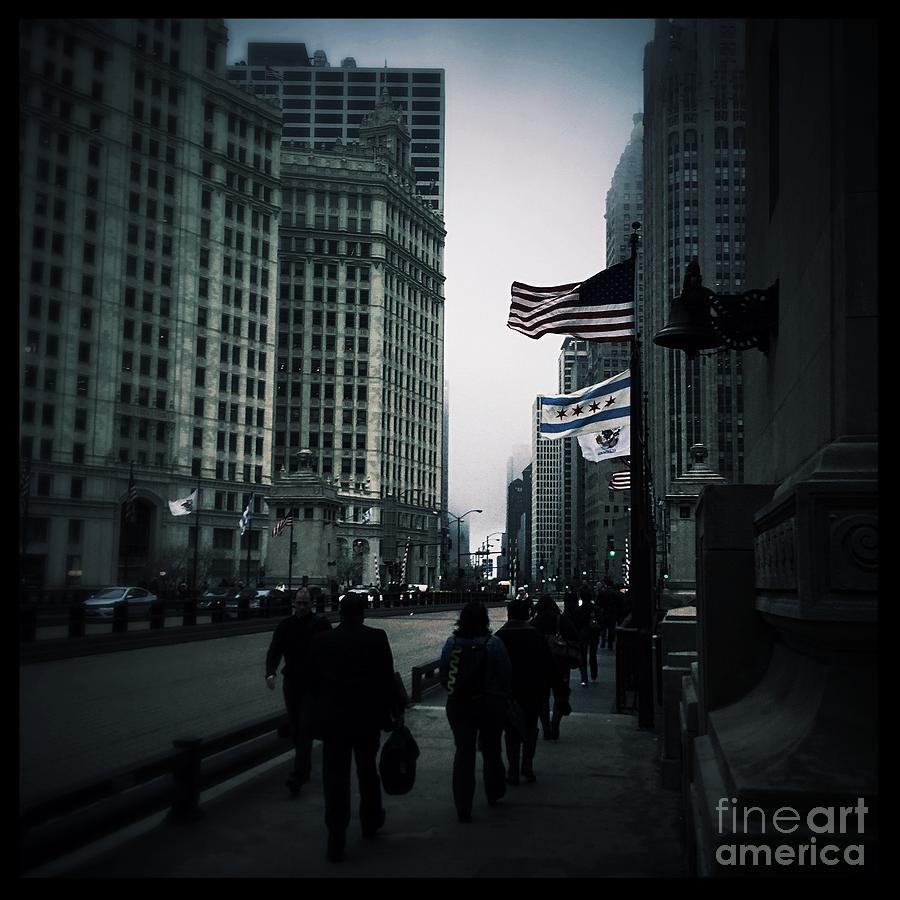 Chicago City Fog Photograph