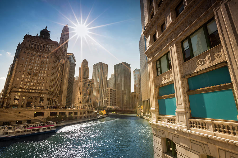 Chicago Cityscape And River Photograph by Pgiam