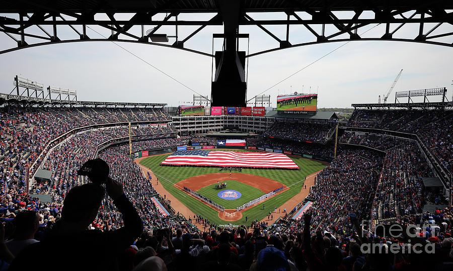 Chicago Cubs V Texas Rangers Photograph by Tom Pennington