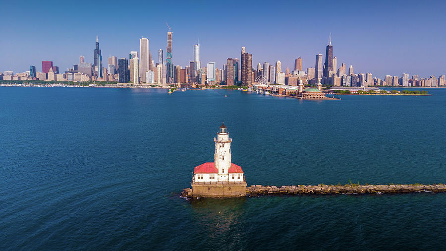 Chicago Harbor Lighthouse by Bobby King