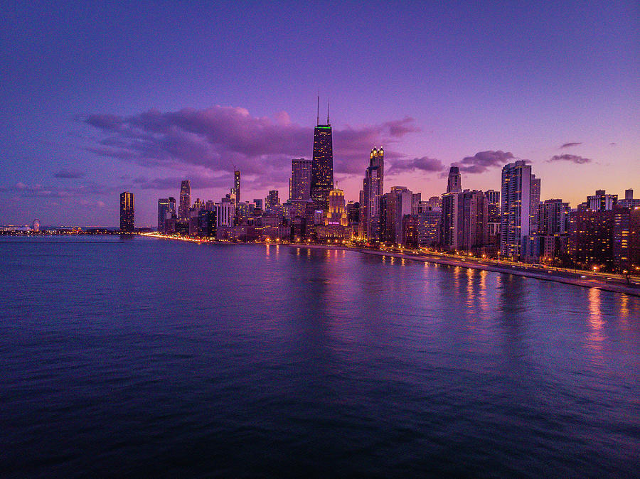 Chicago Sunset  by Bobby King