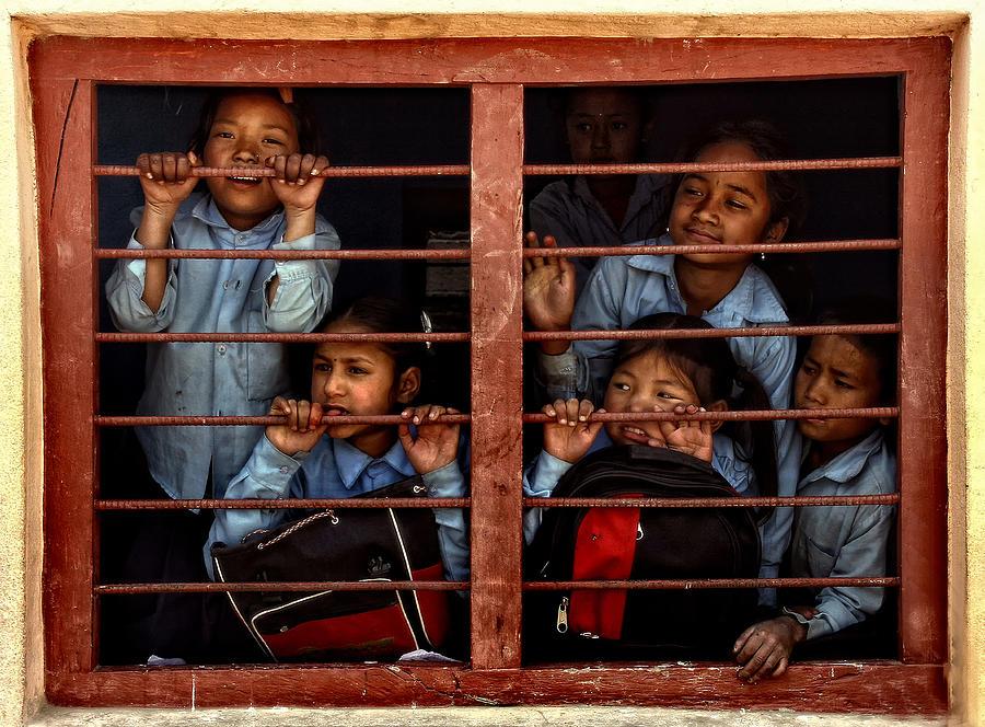 Nepal Photograph - Children Of Nepal - Series by Yvette Depaepe