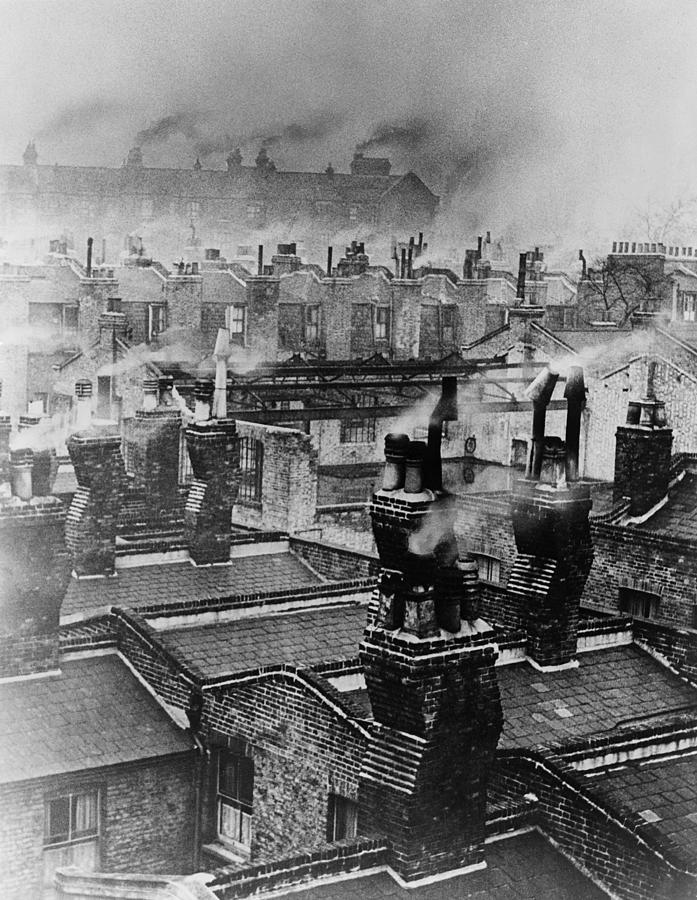 Chimney Smoke Photograph by Fred Morley