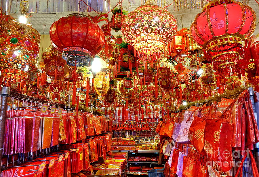 Chinese New Years Decorations For 2019 Photograph by Yali Shi