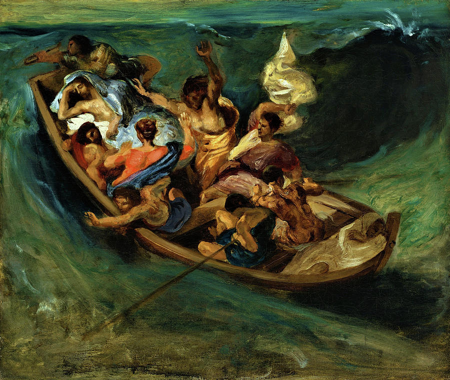 Eugene Delacroix Painting - Christ On The Sea Of Galilee - Digital Remastered Edition 2 by Eugene Delacroix