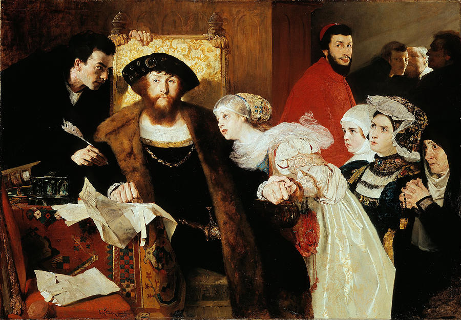 Eilif Peterssen Painting - Christian II Signing The Death Warrant Of Torben Oxe  by Eilif Peterssen