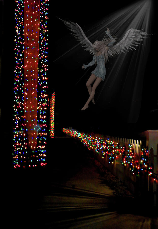 Christmas Mixed Media - Christmas Angel by Rosalie Scanlon