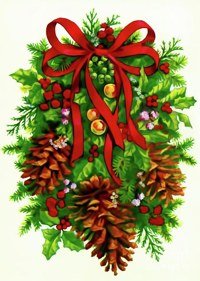 Christmas Wreath by D Hackett