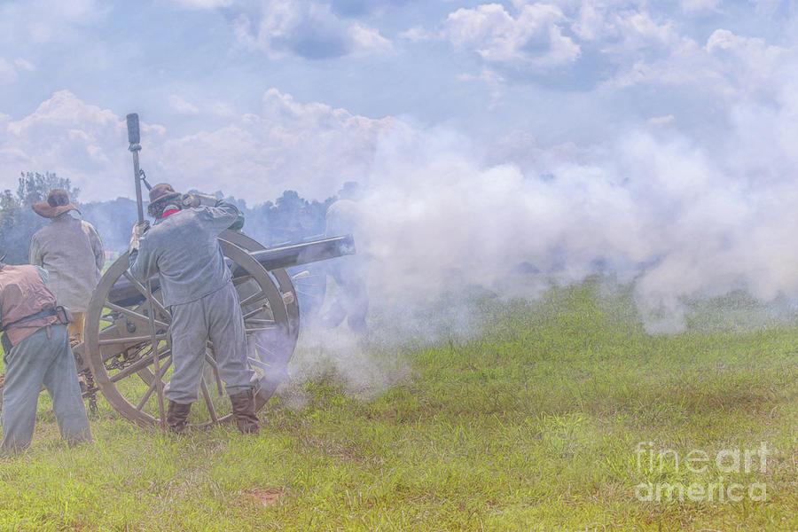 Civil War Cannon Firing by Randy Steele