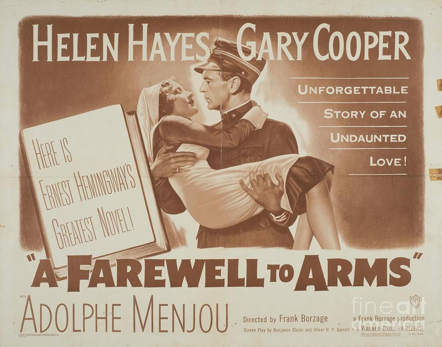 Farewell Digital Art - Classic Movie Poster - A Farewell to Arms by Esoterica Art Agency