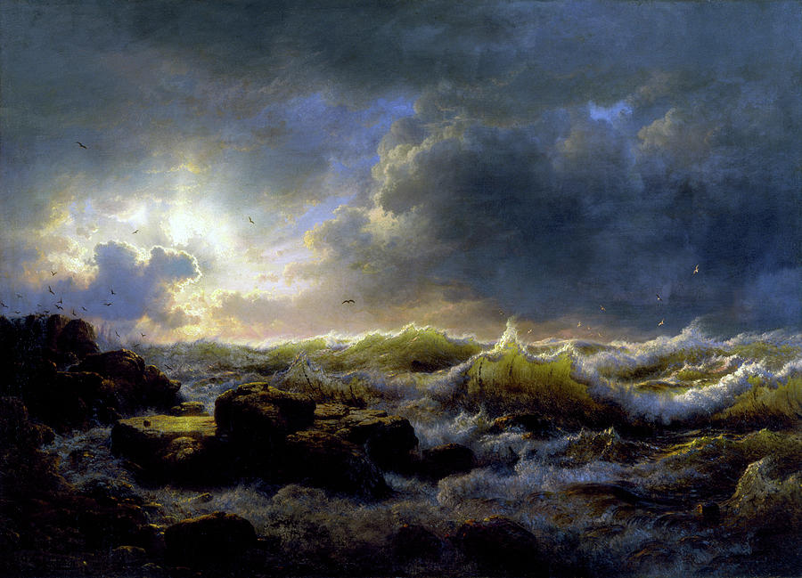 Clearing Up, Coast of Sicily by Andreas Achenbach
