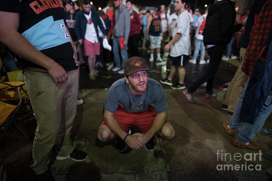 Cleveland Indians Fans Gather To The 1 Photograph by Justin Merriman