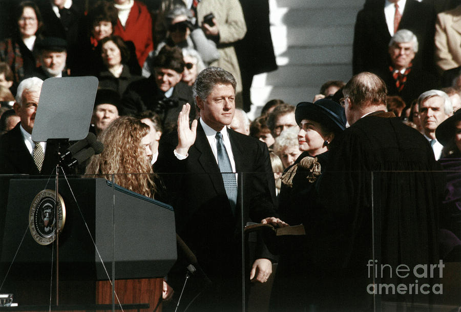 CLINTON INAUGURATION, 1993 by Granger