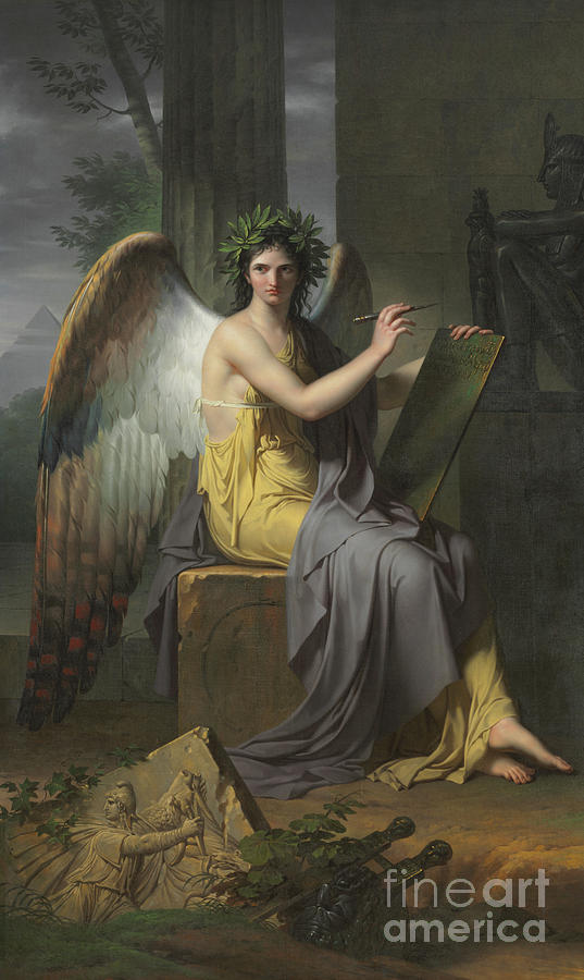 Clio Painting - Clio, Muse Of History, 1800 by Charles Meynier