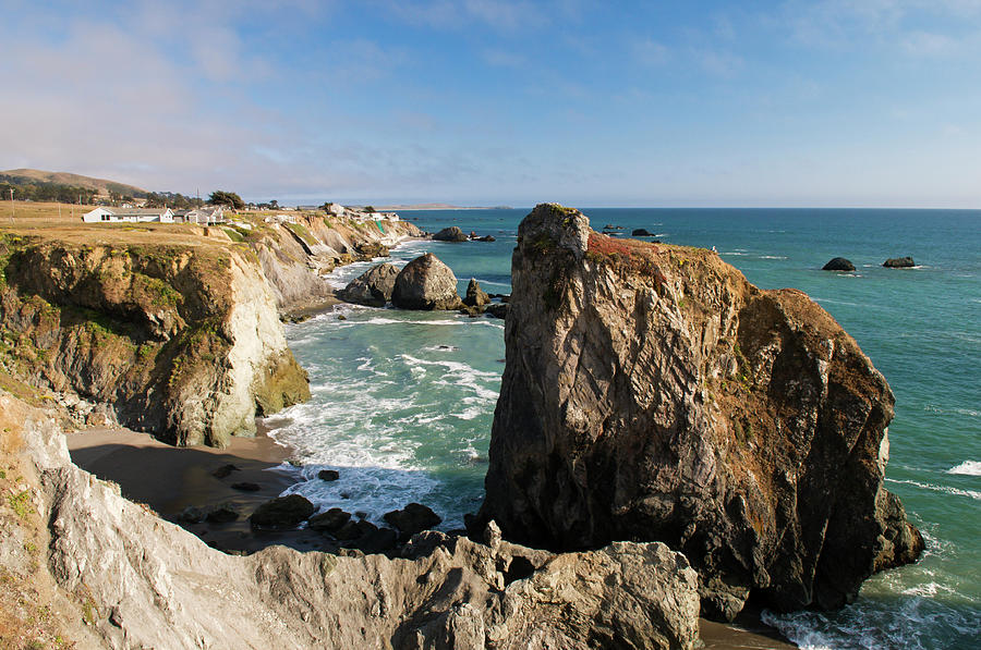 Coastline In Sonoma Coast State Park By Photograph by Anders Blomqvist