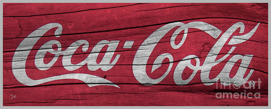 Coca Cola Sign On Weathered Wood Photograph