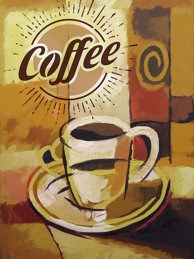 Coffee Painting - Coffee Poster by Lutz Baar