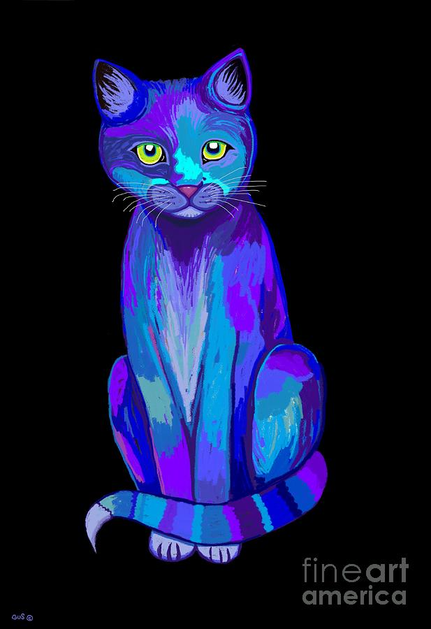 Cat Digital Art - Colorful Calico Cat by Nick Gustafson