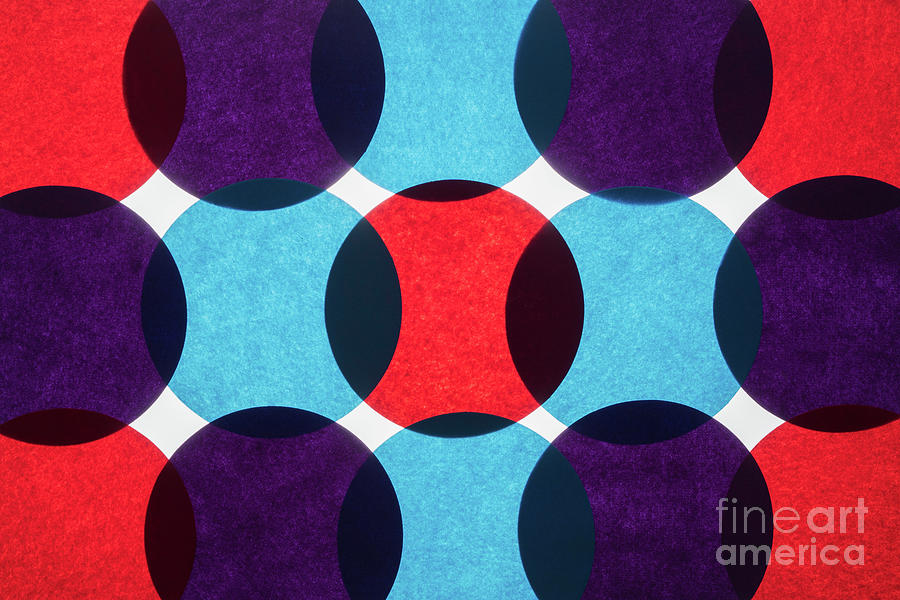 Colorful Circle Paper Back-lit Pattern Photograph by Miragec