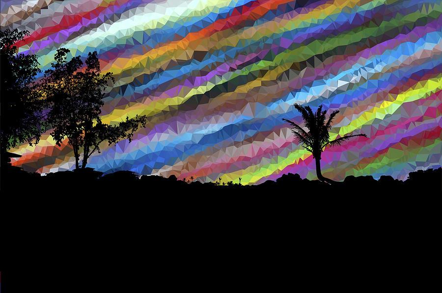 Colorful Digital Art - Colorful Forest by ArtMarketJapan