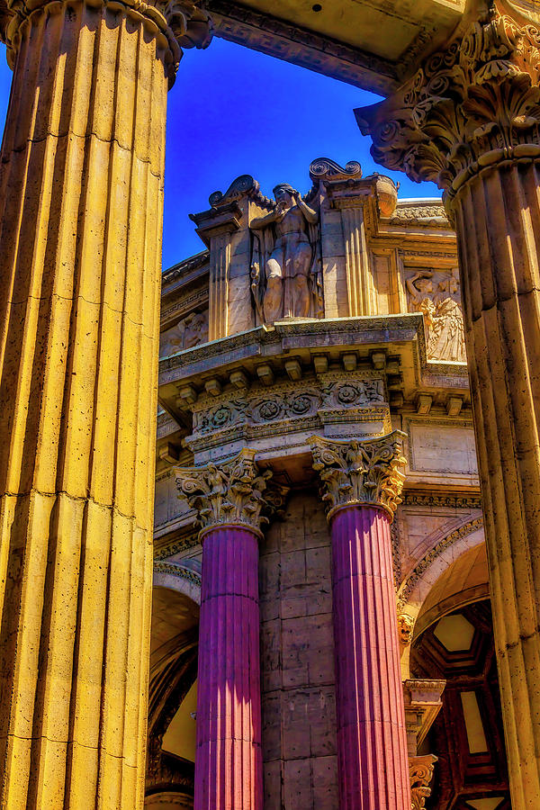 Palace Of Fine Arts Photograph - Columns Of The Palace Of Fine Arts by Garry Gay