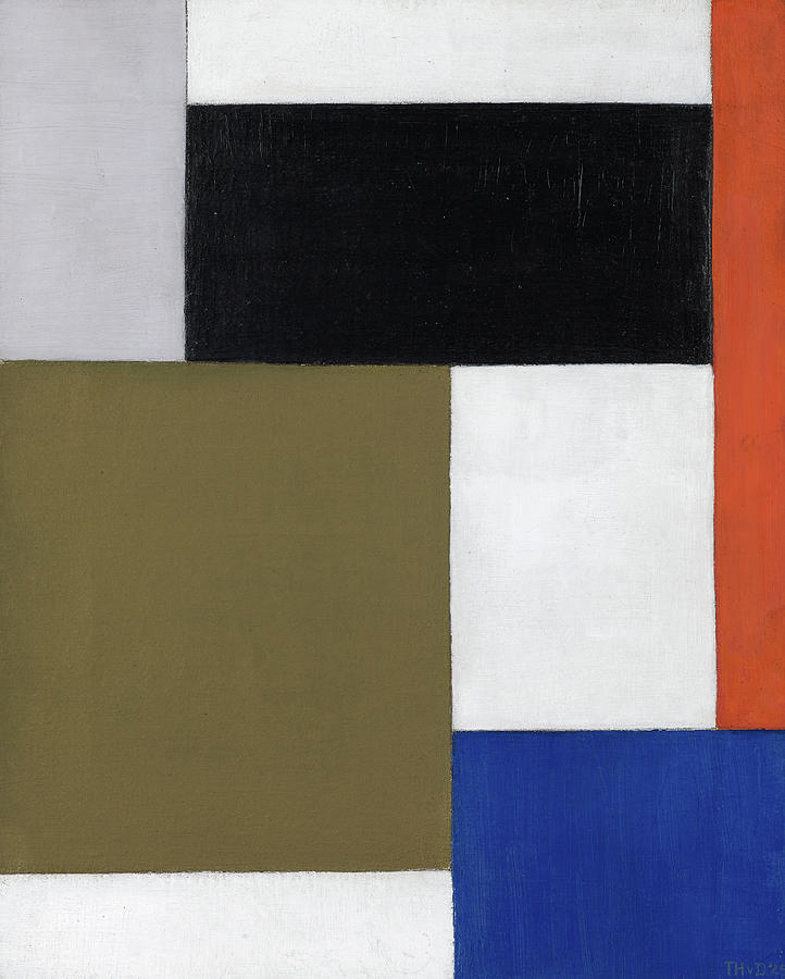 Theo Van Doesburg Painting - Composition, 1924 by Theo van Doesburg