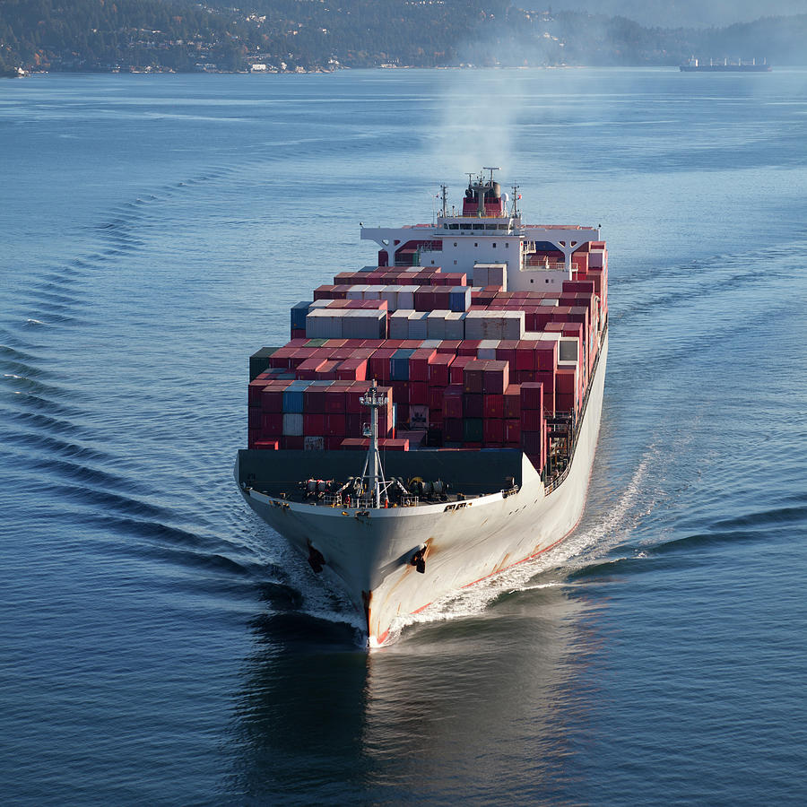 Container Ship Photograph by Dan prat