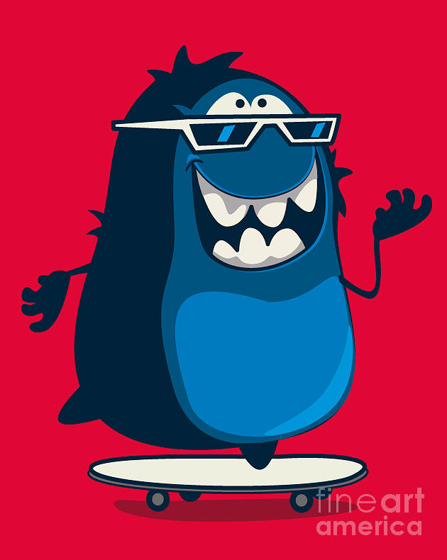 Symbol Digital Art - Cool Monster Graphic 1 by Braingraph