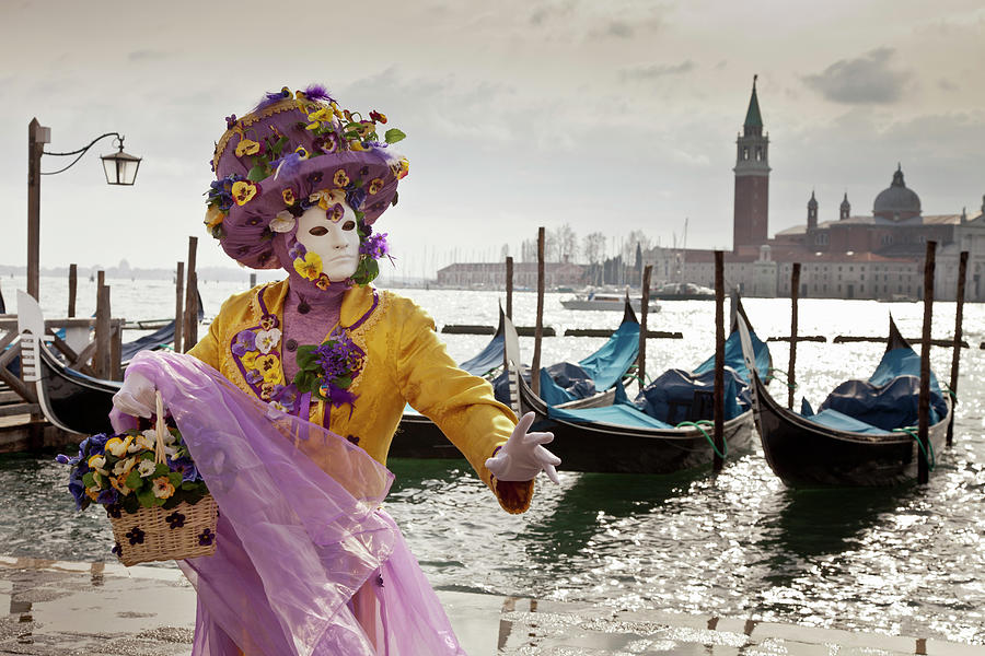 Costumed Figure At Venice Carnival Photograph by Cultura Rm Exclusive/walter Zerla