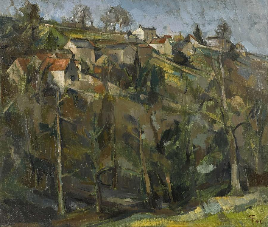 Cottages At Dundry  by Paul Feiler