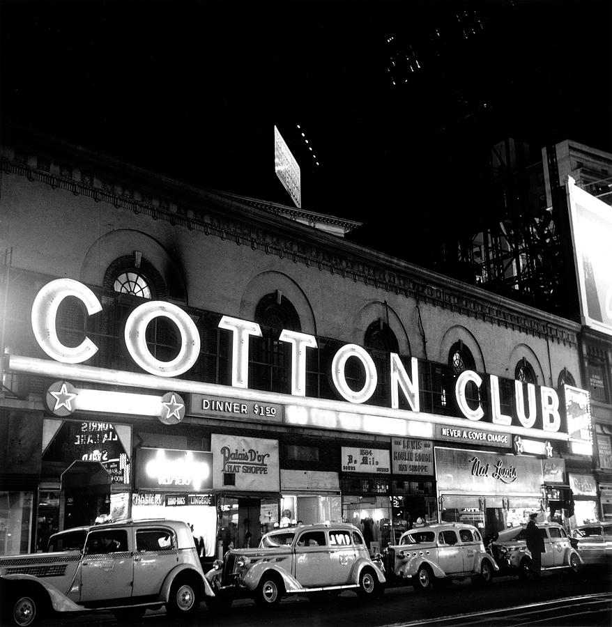 Cotton Club Marquee In Ny Photograph by Michael Ochs Archives