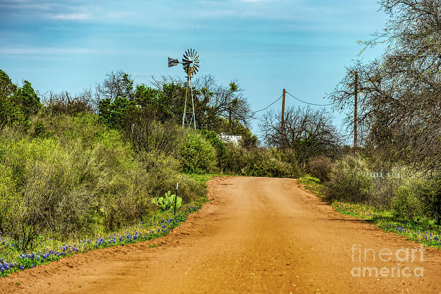 Home Decor Digital Art - Country Road by Elijah Knight