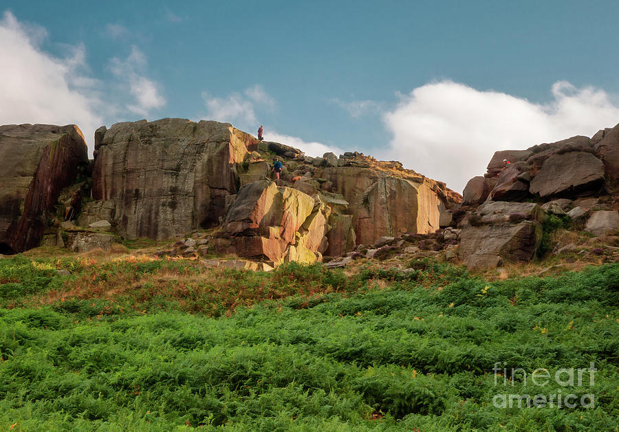 Cow And Calf Rocks In Ilkley Photograph