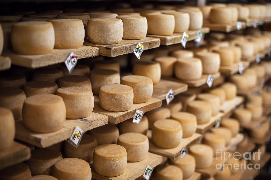 Date Photograph - Cow Milk Cheese, Stored In A Wooden by Maxim Golubchikov